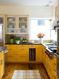 bold yellow kitchen