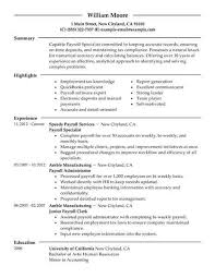 Payroll Accounting Job Description Best Payroll Specialist Resume Example Livecareer