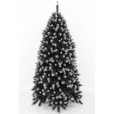 Grand Empress Spruce Christmas Tree  Black Frosted Silver - 1.83m