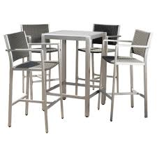 target patio bar set. Simple Patio Cape Coral 5pc AllWeather WickerMetal Patio Bar Set  Gray Christopher  Knight Home With Target A