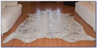 metallic cowhide rug uk