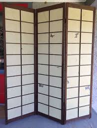 2 of 8 large vintage japanese shoji screen room divider folding wood construction japanese screen room divider e40 japanese