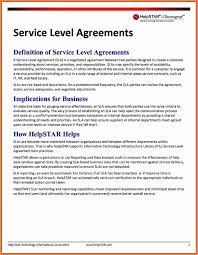 help desk service level agreement template help desk service level agreement document template example