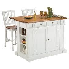 Home Styles White And Oak Finish Large Kitchen Island Hayneedle