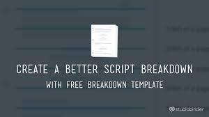 script breakdown sheet breaking down a script free script breakdown sheet