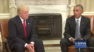obama oval office. President Obama \u0026 President-elect Trump In Oval Office (C-SPAN)