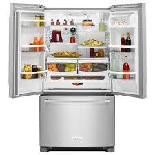 Kitchen Aid French Door Kitchenaid 20 Cu Ft French Door Refrigerator In Stainless Steel