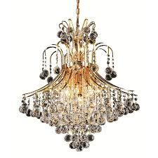 elegant lighting toureg 15 light gold glam crystal empire chandelier