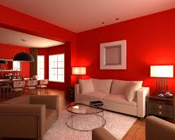 red and white furniture. Living Room With Red Walls, White And Brown Furniture, Rug, Glass Coffee Furniture