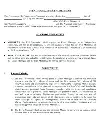 Event Planning Services Agreement Event Management Contract Template Agreement Examples Rental