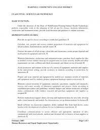Photo Lab Technician Medical Resume Chemical Laboratory Sample