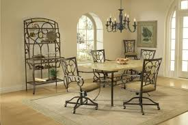 Wrought Iron Kitchen Sets With Padded Chairs Edina