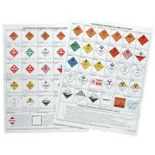 Details About Jj Keller 39 F W Placard Chart Chemical Hazmat Training