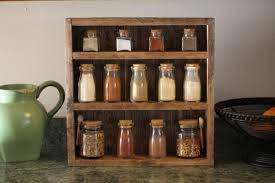 Kitchen Rack Rustic Wooden Spice Rack Wooden Spice Rack Kitchen Rack