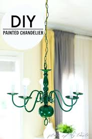 paint a chandelier painted spray glass