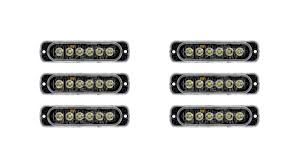 Small Led Strobe Lights Low Profile Vehicle Led Mini Strobe Light Head Single Or Dual Color 18 Watt