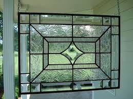 modern clear stained glass