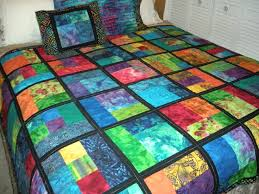 117 best Batik Quilt Designs images on Pinterest | Colors, Frames ... & Bright Batik Quilt 2 ... with black sashing ... made with extra Adamdwight.com