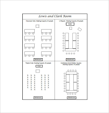 seating chart template for meeting free pdf template