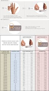Ring Size Chart For Ring Orders Boutique Ottoman Online