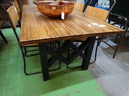 table bamboo table with iron base furniture s denver
