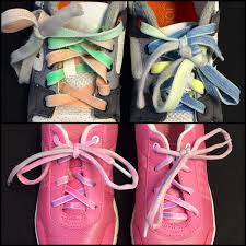 """Shoelace Patterns Classy The """"Two Colour Lace Trick"""" For Shoelace Tying"""