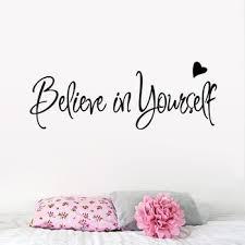 believe in yourself wall stickers home decor creative inspiring e wall decal adesivo de parede removable