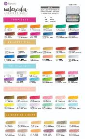 Marketing Color Chart Trying Out New Paints Prima Marketing Watercolor