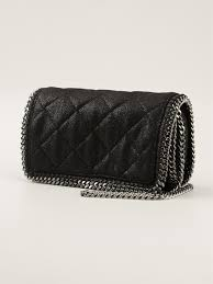 Lyst - Stella mccartney Quilted Falabella Cross Body Bag in Black & Gallery Adamdwight.com