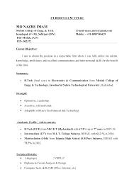 Resume Format College Student Undergraduate Sample Of 2 Template
