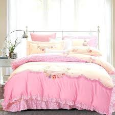 white ruffle bedding sets cotton princess duvet cover girls bedspread bed skirt pink embroidery bedclothes set luxury white lace ruffle bedding