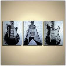 guitar painting studio decor guitar wall art