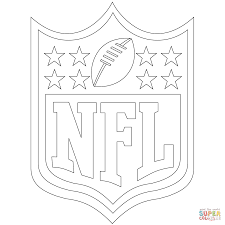direct nfl coloring pages to print nfl logo page free printable