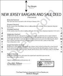 new jersey deed form new jersey bargain and sale deed forms deeds com