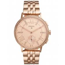 Fossil Q Women's Gazer Rose Gold-Tone Stainless Steel Bracelet Hybrid Smart  Watch, 41MM FTW1106 | Shop Your Way: Online Shopping & Earn Points on  Tools, Appliances, Electronics & more