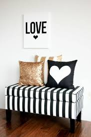 black white and gold bedroom | -