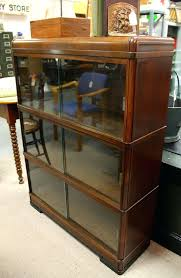 three section barrister bookcase with sliding glass doors sold bookshelf antique dealer