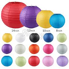 How To Make Hanging Paper Ball Decorations Gorgeous 32pcslot Many Colors Paper Ball Chinese Paper Lanterns For Party