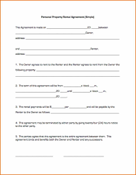Simple Rental Agreement Template Simple One Page Lease Agreement Bravebtr