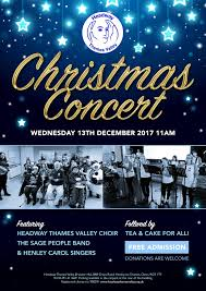 Christmas Concert Poster Headway Thames Valley Christmas Concert Headway Thames Valley