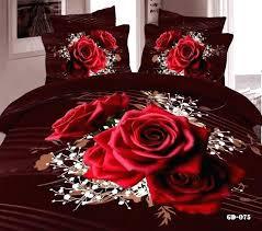 rose bed sets luxury black and red rose bedding set queen super king size printed 7 rose bed sets past rose bedding set