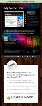 Interactive Resume Template Interactive Resume From Adobe InDesign By Kilik GraphicRiver 18