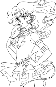 Small Picture Sailor Neptune Coloring Pages Sailor Neptune Colorin Coloring