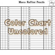 Brushpen Action Color Chart 12 Colors Tabby May Art