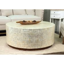 Crafted Home Decorative Monument Natural Off White (Beige) Round Coffee  Table (Monument