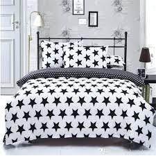 black and white full size bedding black white star pattern printing bedding sets twin queen super king size 2 duvet cover pillowcase comforter duvet cover