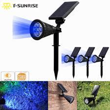 <b>T SUNRISE 4 Pack</b> Solar Spotlight 4 LED Solar Powered Lamp ...