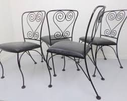 black wrought iron furniture. wrought iron chairs 4 patio antique chair set metal black satin on vinyl vintage homecrest furniture