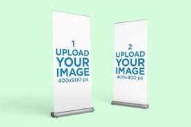 One page website kit for webdesign and developing concept banners. Banner Mockup Generator Placeit
