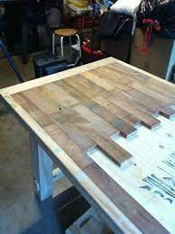 diy wood plank kitchen table picture